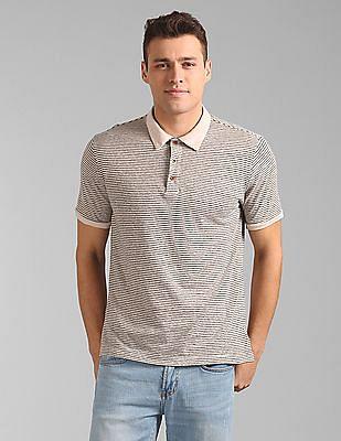 GAP Short Sleeve Polo Shirt in Linen Cotton