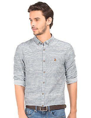 U.S. Polo Assn. Denim Co. Dobby Striped Shirt
