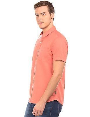 Flying Machine Slim Fit Cotton Linen Shirt