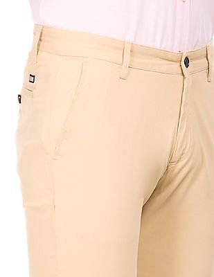 Arrow Sports Slim Fit Cotton Spandex Trousers