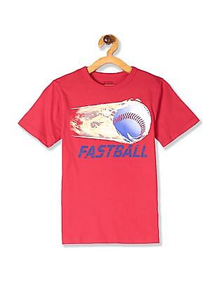 The Children's Place Boys Red Baseball Graphic Tee