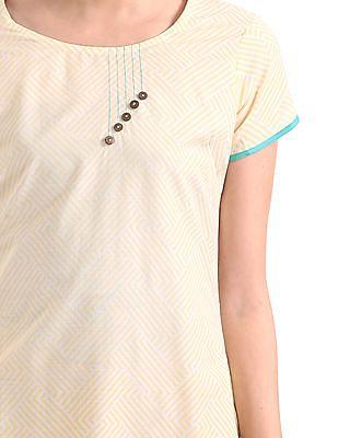 Karigari Printed Short Sleeve Kurta
