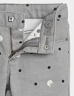 GAP Girls Superdenim UV Cat Print Super Skinny Jeans with Fantastiflex
