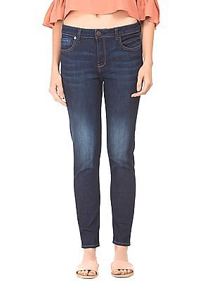 Aeropostale Mid Rise Stone Wash Jeans