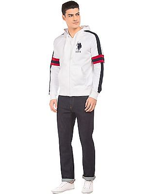 U.S. Polo Assn. Contrast Panel Hooded Sweatshirt