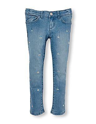 The Children's Place Girls Rhinestone Super-Skinny Jeans
