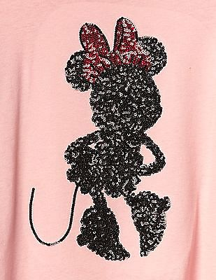 GAP Girls Disney Minnie Mouse Embellished Colour Block Tee