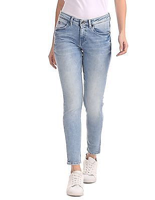 U.S. Polo Assn. Women Super Skinny Mid Rise Jeans