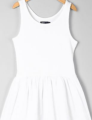 GAP Girls Eyelet Border Tank Dress