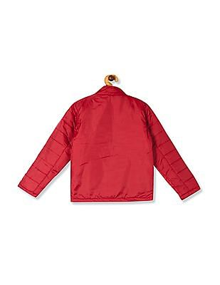 Cherokee Red Boys Stand Neck Colour Block Jacket