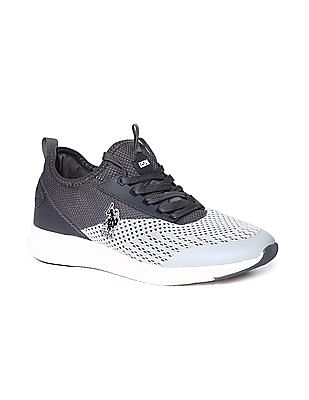 U.S. Polo Assn. Grey Knit Upper Round Toe Sneakers