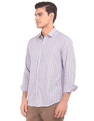 Excalibur Semi Cutaway Collar Patterned Weave Shirt