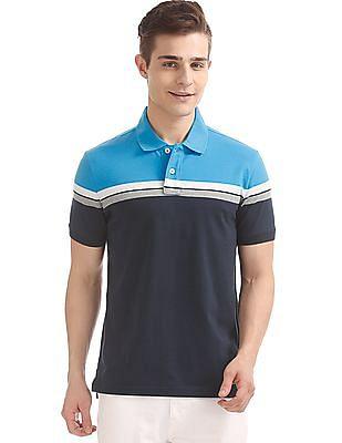 Aeropostale Colour Block Regular Fit Polo Shirt