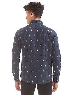 Aeropostale Popsicle Print Button Down Shirt