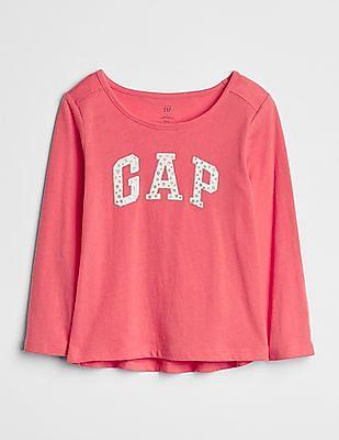 GAP Baby Glitter Logo Long Sleeve T-Shirt