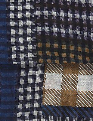 SUGR Blue Check Cotton Stole