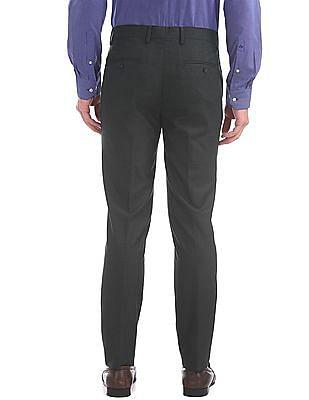 Arrow Slim Fit Patterned Weave Trousers