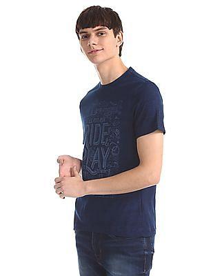 U.S. Polo Assn. Denim Co. Blue Brand Print Crew Neck T-Shirt