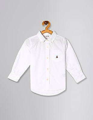 GAP White Toddler Boy Oxford Button-Down Shirt