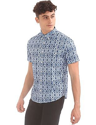 Aeropostale Printed Button Down Shirt