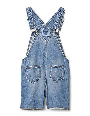 GAP Toddler Girl Blue Denim Heart Shortalls