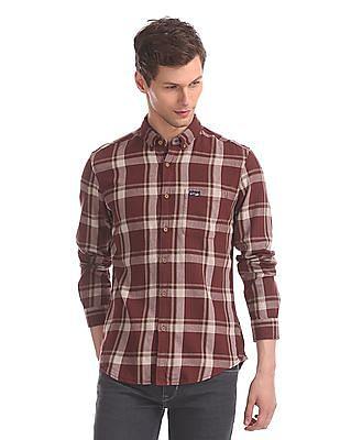 U.S. Polo Assn. Denim Co. Red Button Down Collar Check Shirt