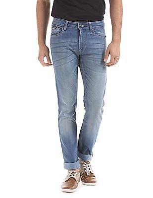 Flying Machine Slim Tapered Fit Washed Jeans