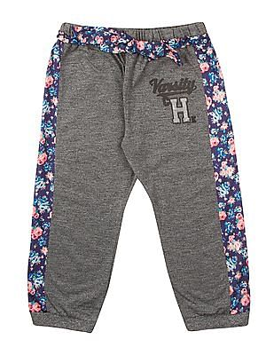 Cherokee Girls Printed Panel Heathered Joggers