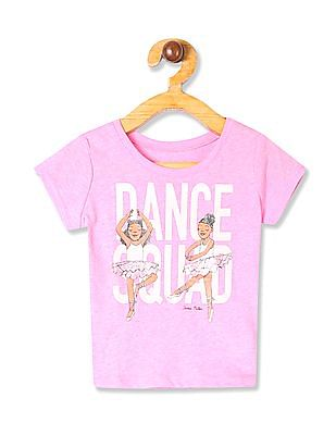 The Children's Place Baby Girls Pink Short Sleeve 'Dance Squad' Graphic T-Shirt
