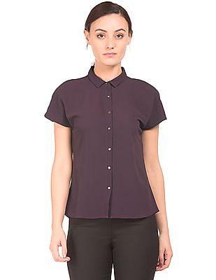 Arrow Woman Textured Cap Sleeve Shirt