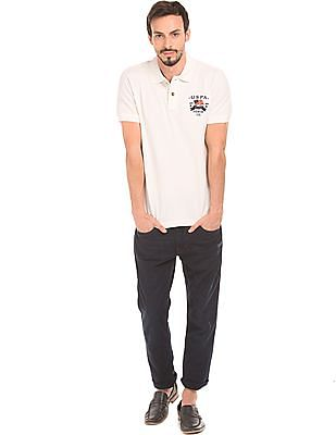 U.S. Polo Assn. Denim Co. Solid Muscle Fit Polo Shirt