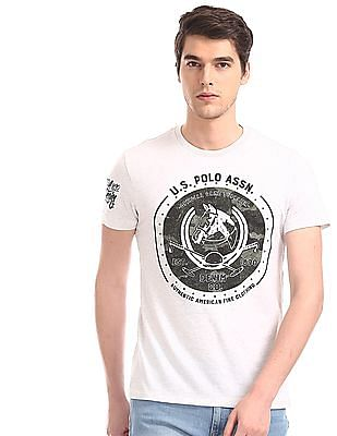 U.S. Polo Assn. Denim Co. Grey Crew Neck Printed T-Shirt