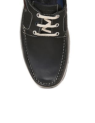 U.S. Polo Assn. Perforated Leather Boat Shoes