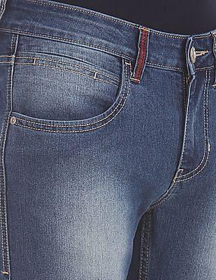 Flying Machine Blue Jackson Skinny Fit Stone Wash Jeans