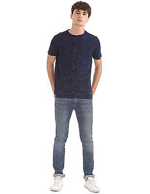 U.S. Polo Assn. Denim Co. Floral Print Round Neck T-Shirt