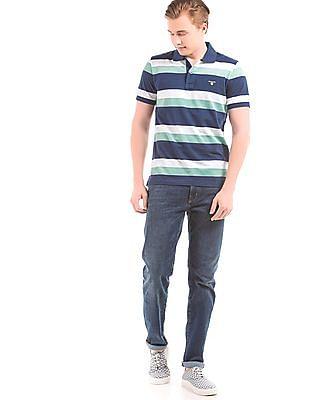 Gant Striped Pique Polo Shirt