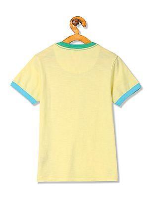 U.S. Polo Assn. Kids Boys Solid Cotton T-Shirt