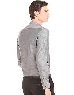 Arrow Newyork Jacquard Slim Fit Shirt