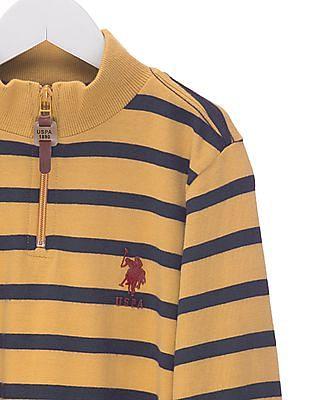 U.S. Polo Assn. Kids Boys Regular Fit Turtleneck T-Shirt