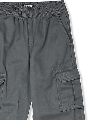 The Children's Place Boys Grey Pull-On Cargo Pants