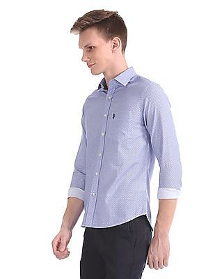 U.S. Polo Assn. Tailored Regular Fit Printed Shirt