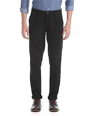 Arrow Sports Regular Fit Pleated Trousers