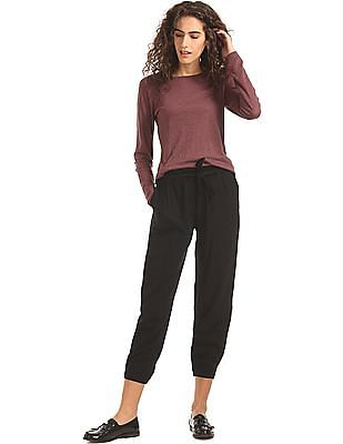 SUGR Ruched Waist Belted Pants