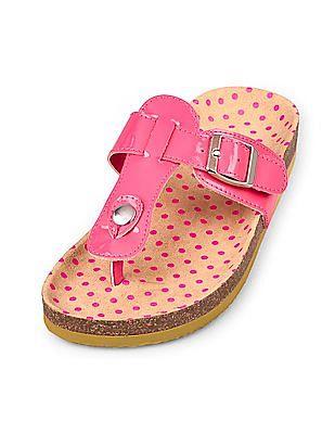The Children's Place Girls Pink Thong Luna Sandal