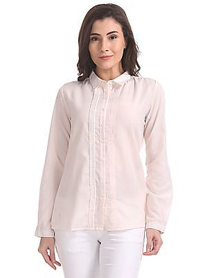 Cherokee Spread Collar Solid Shirt