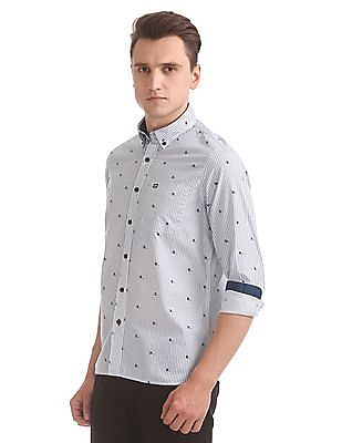 Arrow Sports Nautical Print Slim Fit Shirt