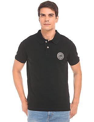 U.S. Polo Assn. Denim Co. Printed Back Muscle Fit Polo Shirt