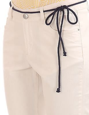 Elle Puncture Patch Roll Up Chinos