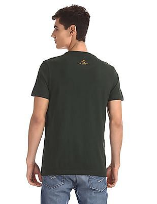 U.S. Polo Assn. Denim Co. Green Crew Neck Brand Print T-Shirt