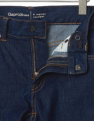 GAP Boys 1969 Stretch Straight Jeans
